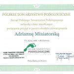 Dyplom członka w Polskim Towarzystwie Podologicznym