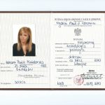 Dyplom uzyskania tytułu licencjata na kierunku kosmetologia o specjalności podologia