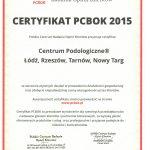 Certyfikat Polskiego Centrum Badania Opinii Klinetów 2015