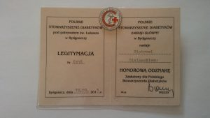 HONOROWA ODZNAKA-Polskie Towarzystwo Diabetologiczne
