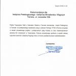 Rekomendacja Polskiego Towarzystwa Walki z Kalectwem w Tarnowie